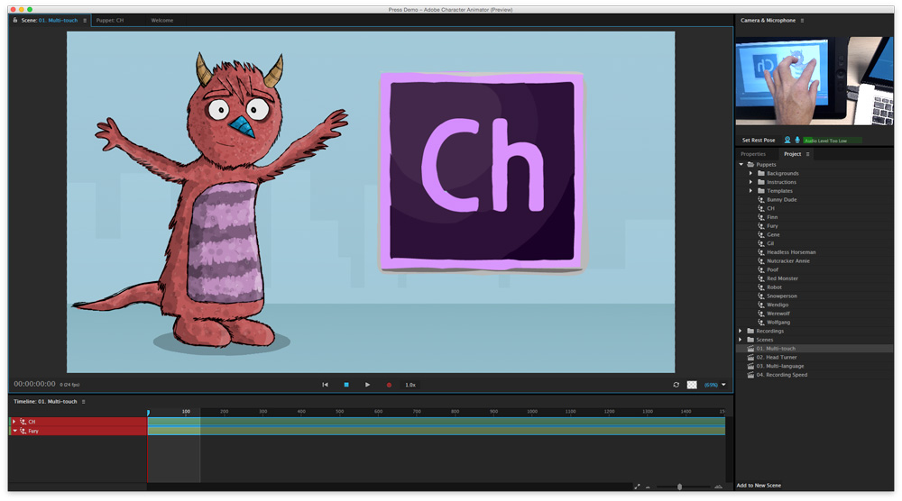 Adobe Character Animator Dragger