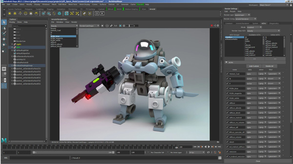 Autodesk arnold light path expr