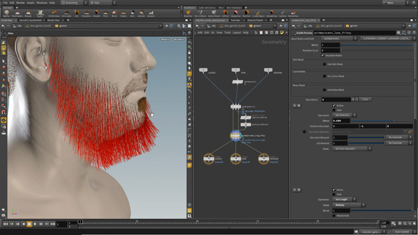 Houdini 16 hair and beard