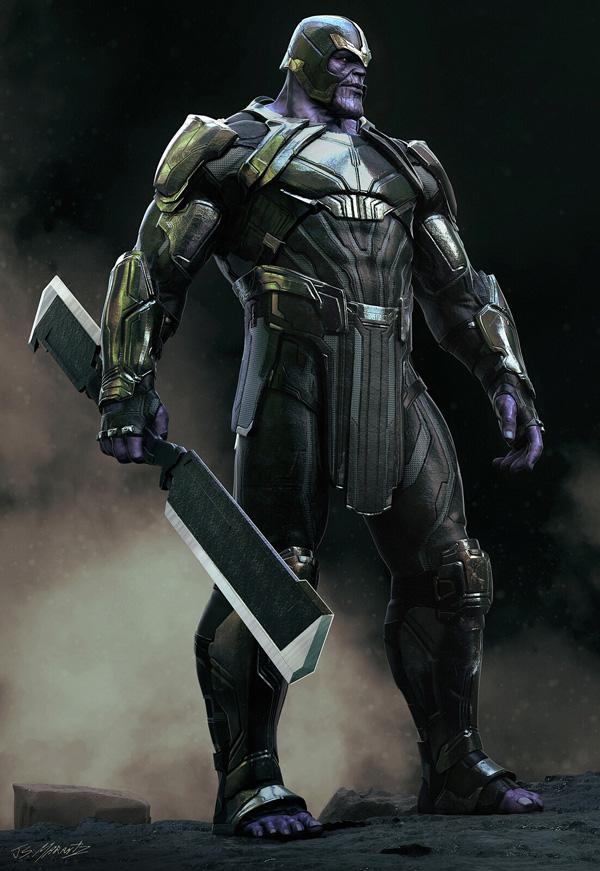 Jerad Marantz KeyShot thanos warrior front
