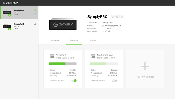 SymplyPRO Volumes