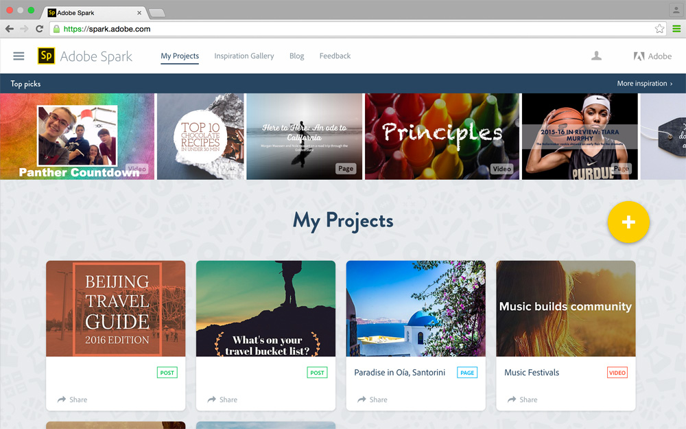 Adobe spark web projects1