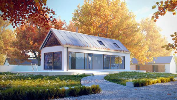 Vray sketchup House Green