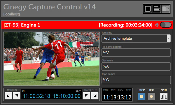 Cinegy capture web control