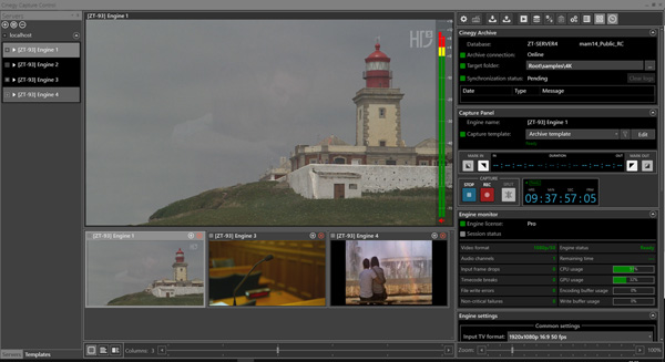 Cinegy Capture control