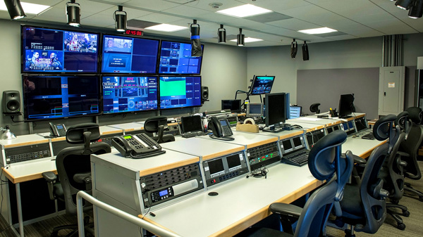 The switch tv control room