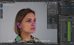 KeenTools facebuilder blender low poly 01